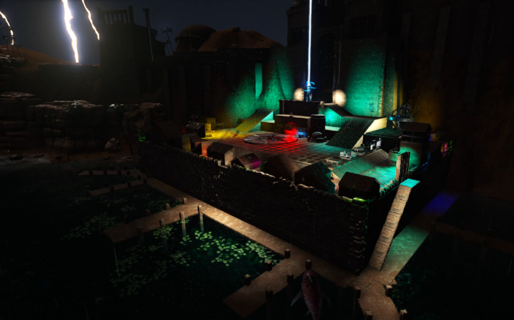 Desert Fortress w Lightning